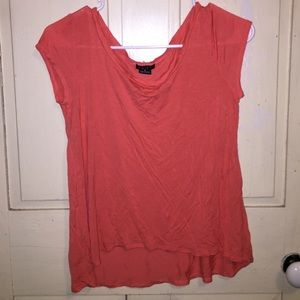 Deb Coral scoop neck shirt size small.